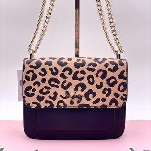 Kate Spade New York Remi Flap Chain Crossbody in Leopard Print